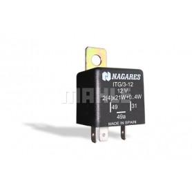 ITG312 01584 - Intermitencia 12V. Con Detección Lámp. Fundida Aumento Pulsac.