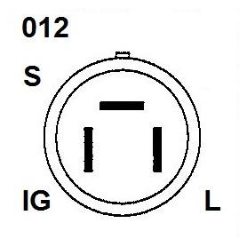 AND1125 - ALTERNADOR ISUZU 12V 35A 101211-1240
