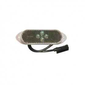 104130 - LUZ DE POSICIÓN BLANCA LED C/CABLE 0,50 24V