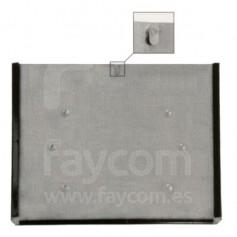 FA101188 - OPORTE INOXIDABLE PORTA PLACAS ADR 400 X 300 MM con cierre