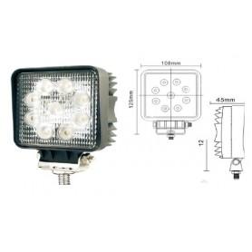FT038 - FAROS DE TRABAJO 9 LEDS DE 3 W.10/30V IP67 . CARCASA ALUMIN