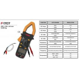 F-1707 - TESTER Pinza amperimétrica + multímetro