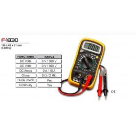 F-1830 - TESTER Multímetro digital de 3 1/2 dígitos