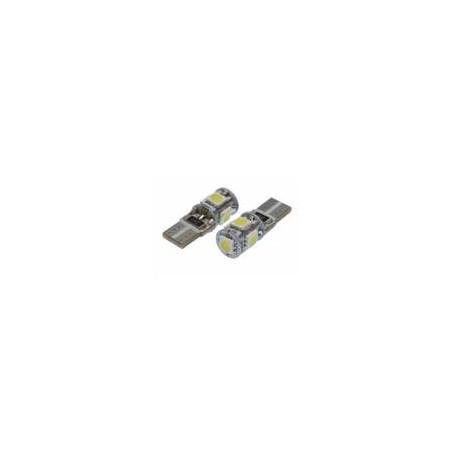 12V 5XSMD 5050 LED T10 WHITE DOUBLE