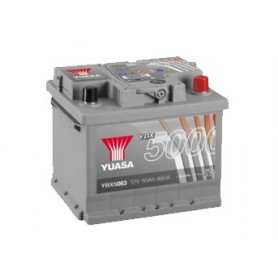 YBX5063 12V 50Ah 480A Yuasa Silver High Performance
