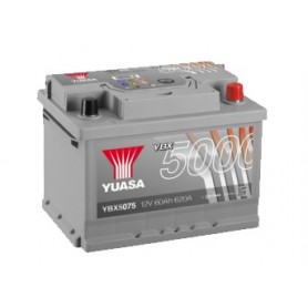 YBX5075 12V 60Ah 620A Yuasa Silver High Performance