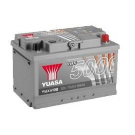 YBX5100 12V 75Ah 680A Yuasa Silver High Performance