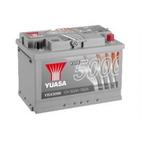 YBX5096 12V 80Ah 760A Yuasa Silver High Performance