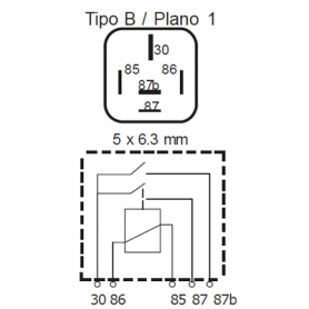 RDP512D - Relé interruptor doble contacto