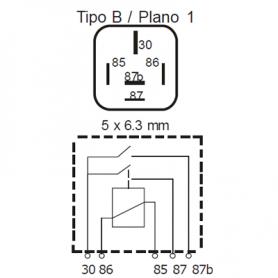 RDP524R - Relé interruptor doble contacto