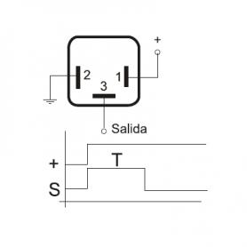 TL324 03296 - Relé temporizador 24V 7 segundos