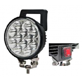 AV.50.0062 - FARO TRABAJO LED 12 LEDS CON INTERRUPTOR IP67