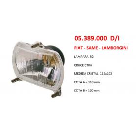 05.389.000 D/I - OPTICA DE FARO FIAT - SAME - LAMBORGINI