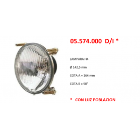 05.574.000 D/I - OPTICA FARO H4 + POBLACION 142,5MM