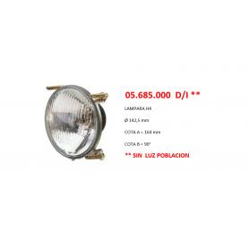 05.685.000 D/I - OPTICA DE FARO (H4) TRACTOR FIAT - SAME - LAMBORGHINI