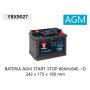 YBX9027 12V 60Ah 680A Yuasa AGM Start Stop Plus