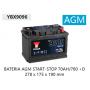 YBX9096 12V 70Ah 760A Yuasa AGM Start Stop Plus