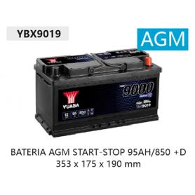 YBX9019 12V 95Ah 850A Yuasa AGM Start Stop Plus