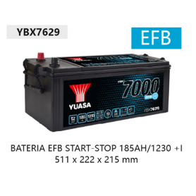 YBX7629 - BATERIA 12V 185Ah 1230A +IZQUIERDA EFB