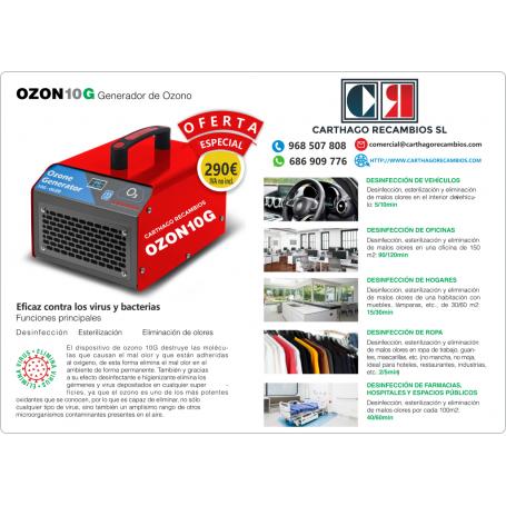 10GNEW - GENERADOR DE OZONO CE