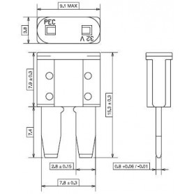 FC205 - FUSIBLE MICRO 2 - 5 A