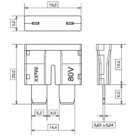 FU8015 - FUSIBLE STANDARD 80 V-20 A