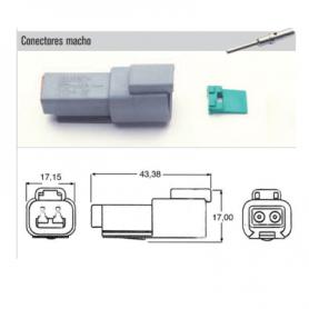 XBDT-04-2P - KIT CONECTOR ESTACONECTOR 2 POLOS