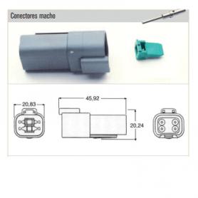 XBDT-04-4P - KIT CONECTOR ESTACONECTOR 4 POLOS (MACHO)