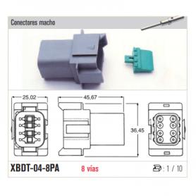 XBDT-04-2P - KIT CONECTOR ESTACONECTOR 2 POLOS (MACHO)