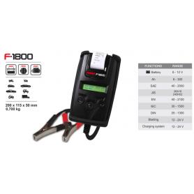 F-1800 - TESTER Analizador digital 6-12 V - 25 a 300 Ah (con impresora)