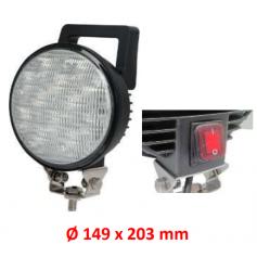 AV.50.0065 - FARO TRABAJO LED 12 LEDS CON INTERRUPTOR IP67 (FOCO ABIERTO)