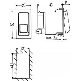 6GM007832241 - INTERRUPTOR AUTOCAR