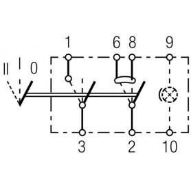 6RH007832461 - INTERRUPTOR TECLA AUTOBUS II+I-0