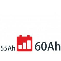 Baterías de 55Ah a 60Ah