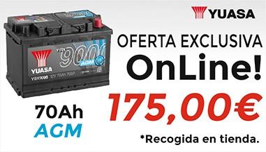 Oferta batería AGM 70Ah